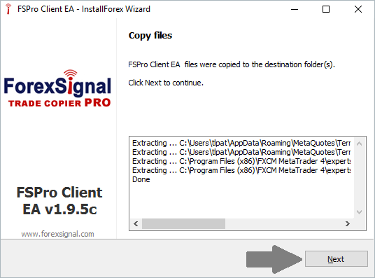 Download and Install ForexSignal Trade Copier